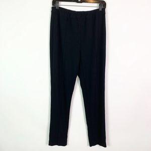 Soft Surroundings Pants Large Black Pull On Elasti